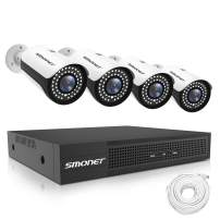 SMONET 5MP PoE Security Camera Systems,8 Channel H.264Pro NVR with 2TB HDD,5MP 1920P Waterpoof PoE Camera with 2.8-12mm Varifocal Motorized Zoom AutoFocus Len,24/7 Recording,Night Vision,Remote Access