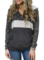EVALESS Womens Sweatshirts Long Sleeve Camo Shirts Pullover Tops