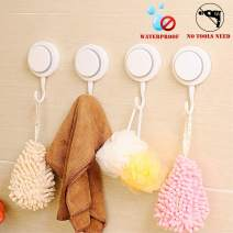 Walls Home & Decoration Powerful Suction Cup Hooks - Organizer Holder for Towel, Robe, Loofah –Waterproof Vacuum Suction Hooks for Shower Bathroom Kitchen Restroom (4 Pack)