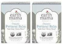 Organic Perineal Balm by Earth Mama | Naturally Cooling Herbal Salve for Pregnancy and Postpartum Relief, 2-Fluid Ounce (2-Pack)