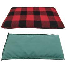 Heating Pads Reusable Microwaveable Natural Heating and Cooling Herbal Pack Hot Cold Therapy (L (6 Seeds)) (Red Plaid S (6 Seeds))
