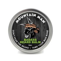 Badass Beard Care Beard Balm - Mountain Man Scent, 2 Ounce - All Natural Ingredients, Keeps Beard and Mustache Full, Soft and Healthy, Reduce Itchy and Flaky Skin, Promote Healthy Growth