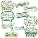 Funny Family Tree Reunion - Family Gathering Party Photo Booth Props Kit - 10 Piece