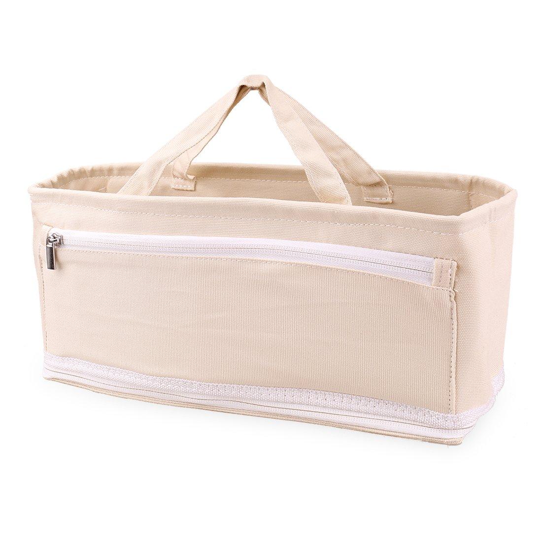 Ava & Kings Handbag Purse Organizer Insert Multipocket Large Tote Bag Shaper | Fits XL Handbags, Diaper Bags, Backpack | Organize & Structure Any Bag - Solid Beige