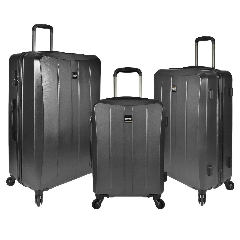 U.S. Traveler Highrock Hardside Spinner Luggage Set 3-Piece, Charcoal