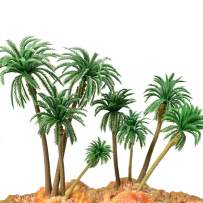 HUIANER Model Trees Palm Tree Miniature Landscape Trees Fake Trees for Projects, 18PCS