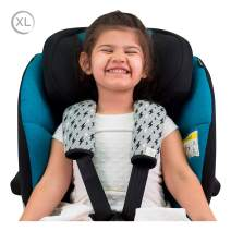 Janabebé Universal pad Covers for Stroller, carrycot and Chairs Groups 0-3 (Black Rayo, 20,5 X 21)