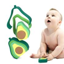 Baby Stacking and Teething Toys;Silicone Avocado Shape Nesting Toy,Early Educational Toddler Learning Montessori Toys for Babies 6+ Months Boys & Girls