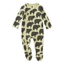 Tea Collection Footed Romper, Cuddly Cubs, Multiple