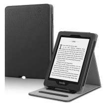 Fintie Flip Case for Kindle Paperwhite (Fits All-New 10th Generation 2018 / All Paperwhite Generations) - Slim Fit Vertical Multi-Viewing Stand Cover with Auto Sleep/Wake, Black