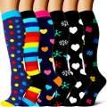 Compression Socks - Compression Sock Women & Men - Best Running, Athletic Sports, Crossfit, Flight Travel