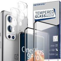 QITAYO for OnePlus 9 Pro Screen Protector and Camera Protector [2 Screen Protectors+2 Camera Protectors] Anti-fingerprint Anti-Scratch Tempered Glass for OnePlus 9 Pro