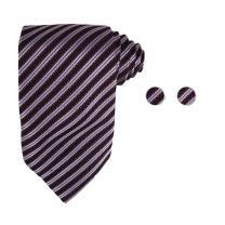 Y&G Men's Fashion Multi-Colored Neck Tie Stripes Accessories Gift Mens Silk Tie Cufflinks Set 2PT