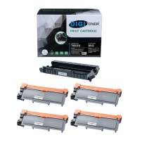 TonerPlusUSA Compatible Toner Cartridge and Drum Unit Set Replacement for Brother DR630 TN630 TN660 High Yield for DCP-L2540DW/HL-L2300D/L2360DW/MFC-L2680W/L2685DW Black (1DR630+ 4TN660, [1+4] Pack)