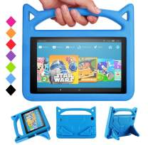 "All-New Fire HD 10 2019 Tablet Case -Riaour Shock Proof Light Weight Convertible Handle Stand Kids Friendly Cover for Fire HD 10.1"" Tablet(Compatible with 2019&2017 Released)(New Blue)"