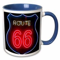 3dRose 191262_11 Mug, 15oz, Blue/White