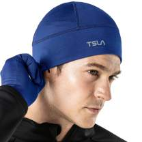 TSLA Unisex (Pack of 1, 2) Skull Cap Thermal Fleece Line Active Beanie Helmet Liner