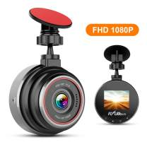 Dash Cam by Flylinktech FHD 1080P Car Dashboard Camera Recorder with 170°Wide Angle, WDR, Loop Recording, Motion Detection, G-Sensor and Night Vision