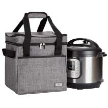 HOMEST Travel 2 Compartments Tote Bag for Instant Pot Duo 7-in-1 Electric Pressure Cooker6 Quart, Carrier with Easy to Clean Linner, Grey (Patent Pending)