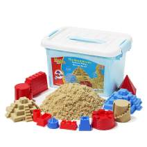 MOTION SAND, 2.2lbs Deluxe Bucket Play Sand,Castle Set Mold Kit, Play Sand with 10 Color Sand Molds for Kids