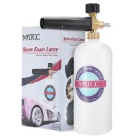 "MATCC Adjustable Foam Cannon I Liter Bottle Snow Foam Lance Fit 1/4"" Quick Connector Foam Blaster for Pressure Washer Gun"
