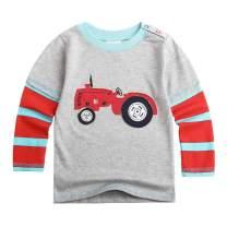 Sooxiwood Little Boys T-Shirt Plane Car Striped