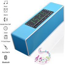 TEASTAR Wireless Bluetooth Speaker Portable with Mic Handsfree Calling Support Alam Clock MicroSD TF Card U Disk MP3 Playback for Mobile Phone PC Tablet (Blue)