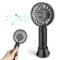Zahooy Mini Handheld Fan,Small Personal Desk Fan,USB Rechargeable Battery Operated Portable Fan with 4 Adjustable Speeds,Strong Wind Cooling Fans for Office Travel Outdoor Camping Home Fitness(Black)
