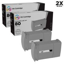 LD Remanufactured Ink Cartridge Replacements for HP 80 C4871A (Black, 2-Pack)