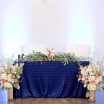 60 x 108-Inch Dark Blue Sequin Tablecloth Rectangle Glitter Table Cover for Wedding Christmas Event Decoration Photography Backdrop