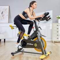 L NOW Indoor Exercise Bike Indoor Cycling Stationary Bike,Magnetic Resistance with 35 Lb Flywheel& Belt Drive &LCD Monitor& Heart Rate Commercial Standard for Home Cardio Workout(D501)