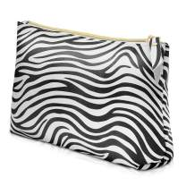 Makeup bags,LKE Cosmetic Bags Portable Travel Bags Pencil Bag Case Zebra Pattern Brush Toiletry Bag for Women Organizers and Storage