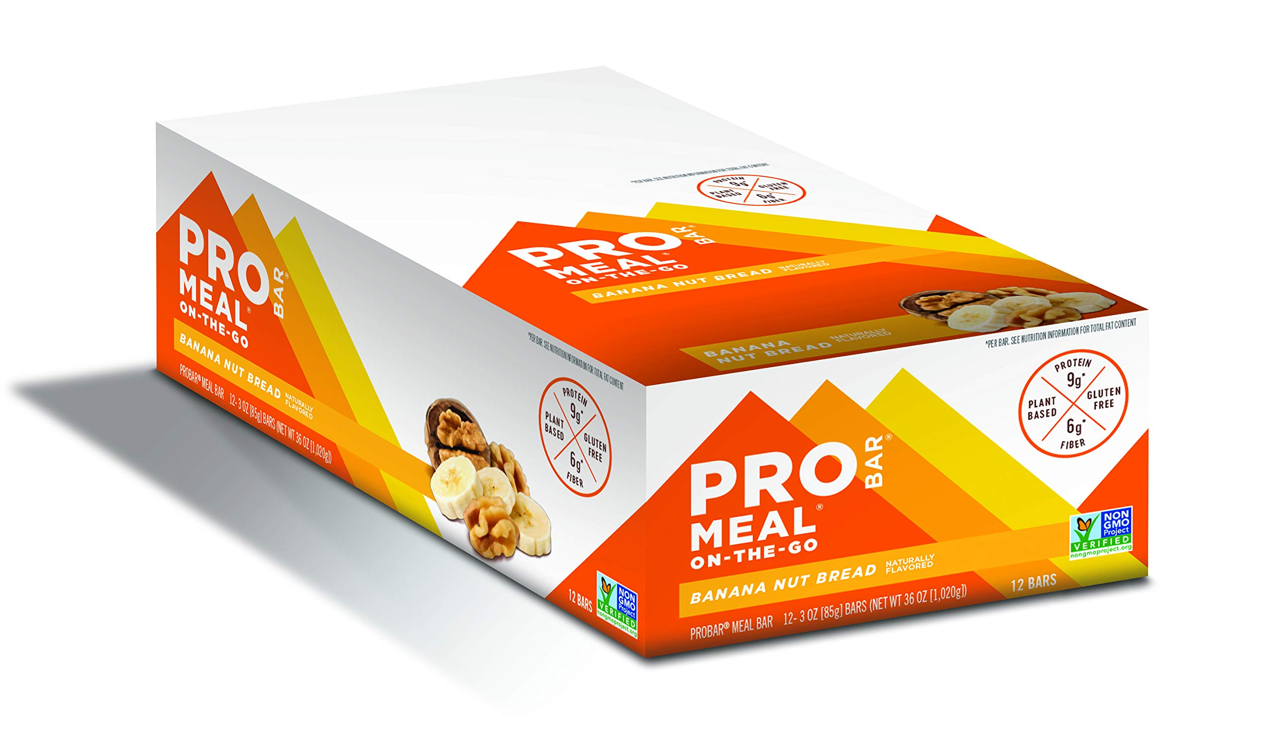 PROBAR - Meal Bar, Banana Nut Bread, Non-GMO, Gluten-Free, Certified Organic, Healthy, Plant-Based Whole Food Ingredients, Natural Energy (12 Count)