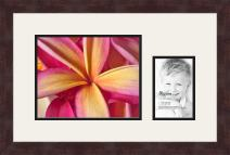 Art to Frames Double-Multimat-198-61/89-FRBW26061 Collage Frame Photo Mat Double Mat with 1-8x10 and 1-4x6 Openings and Espresso Frame