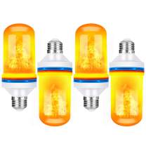TOMTOO Christmas LED Flame Effect Light Bulbs - 4 Modes with Upside Down Effect - E26 Base LED Flickering Flame Light Bulbs for Indoor/Outdoor Christmas Decorations(4 Pack)