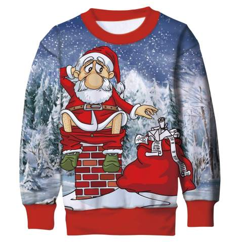Freshhoodies Kids Boys//Girls Ugly Christmas Sweatshirts 3D Novelty Pullover Xmas Jumpers 6-16 Years