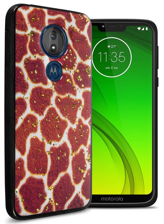 CoverON Slim Glitter TPU Rubber Safari Skin Series for Motorola Moto G7 Power/Moto G7 Supra/Moto G7 Optimo Maxx (XT1955DL) Case, Giraffe Print