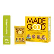 MadeGood Chocolate Banana Granola Minis, 6 Boxes (24 count); Wholesome and Delicious Bite-Sized Snacks; Organic and Made with Allergy Friendly Ingredients; Ideal for School Lunches and Snacks