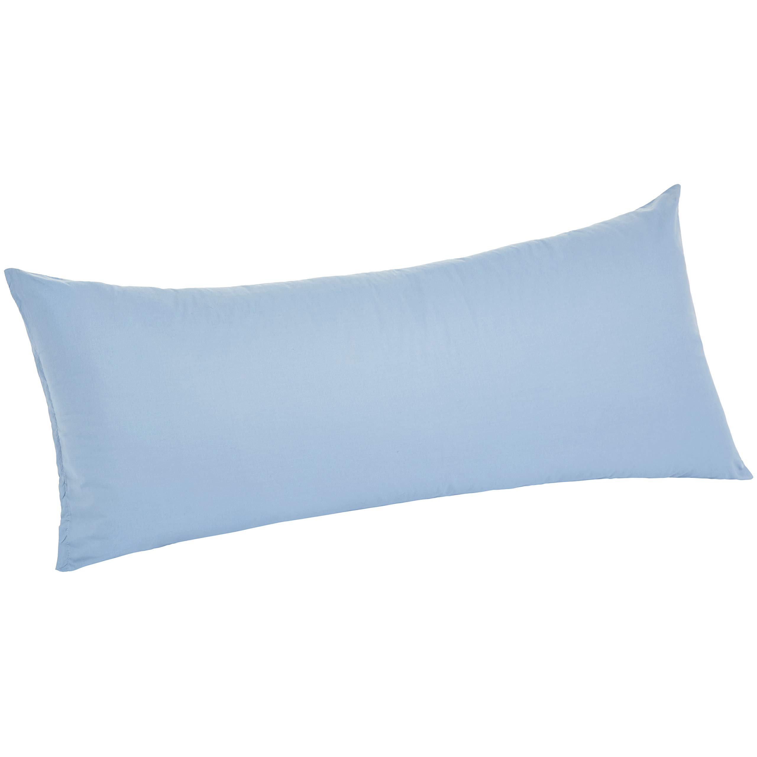 """AmazonBasics Ultra-Soft Body Pillow Cover Pillowcase, Breathable, Easy to Wash, 55"""" x 21"""", Dusty Blue"""