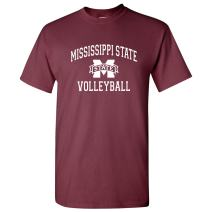 NCAA Arch Logo Volleyball, Team Color T Shirt, College, University