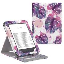 MoKo Case Fits All-New Kindle (10th Generation - 2019 Release Only), Vertical Flip Protective Cover with Auto Wake/Sleep, Will Not Fit Kindle Paperwhite 10th Generation 2018 - Watercolor Palm Leaf
