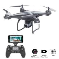 GPS Drone with Camera Live Video 1080P HD FPV RC Quadcopter Drones with Camera Follow Me Mode, Altitude Hold, Long Range Control, GPS Auto Return Home - BEEYEO Dark Grey