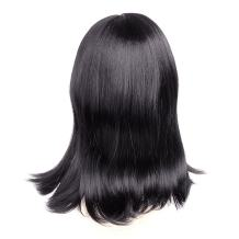 """Ty.Hermenlisa 16"""" Synthetic Wig with Bang Women Anime Cosplay Costume Party, 170g, Black"""