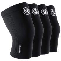 CAMBIVO 2 Pairs Knee Brace, Compression Knee Sleeve for Men and Women, Knee Support for Running, Arthritis, ACL, Meniscus Tear, Sports