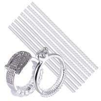 CCINEE Ring Size Adjuster with Jewelry Polishing Cloth Ring Guard Ring Resizer for All Rings, Set of 8