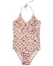 AS ROSE RICH Girls Swimsuits - Bathing Suits for Girls - 7-16 - UPF50+ One Piece
