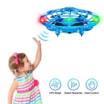 Hand Operated Drones for Kids,UFO Flying Ball with Infrared Sensor Auto-Avoid, Hands Free Mini Drone,Flying Ball Drone Toys for Boys and Girls(Blue)