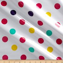 Oilcloth International Oilcloth Tokyo Dot Pink Fabric by the Yard