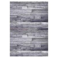 Funnytree 5x7FT Gray Wood Wall Photography Backdrop for Decoration Old Vintage Grey Planks Grain Texture Grunge Floor Background Photo Booth