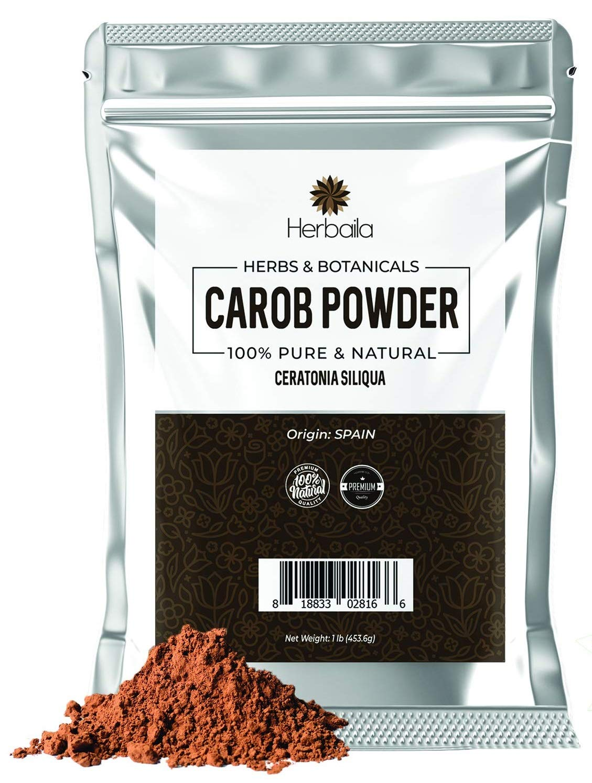 Carob Powder 1lb, Cocoa Powder Alternative, High Fiber, Raw, Vegan, Paleo, Keto, non-GMO Superfood